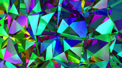 Diamonds Refraction Background Looped. HD 1080 Animation
