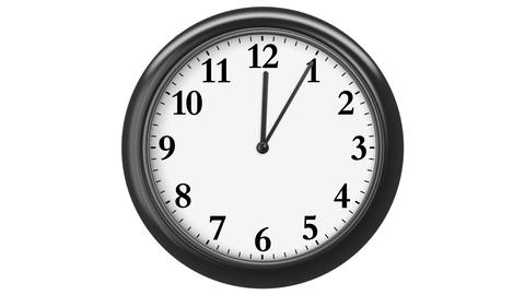 Clock with Arabic Numerals. frames (frame for each minute). HD 1080. Loop. Isola Animation