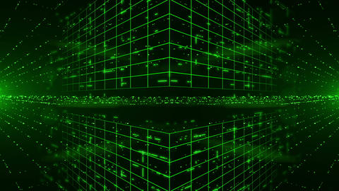Abstract digital background with green laser rays. Light Show. HD 1080. Loopable Animation