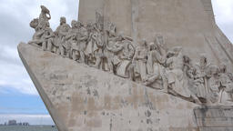 The Padrao dos Descobrimentos Statue in Portugal Footage