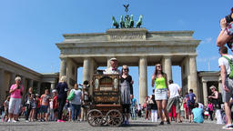 Tourists at Brandenburg gate Footage