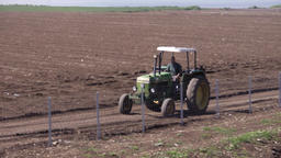 tractor traveling in the fields Footage