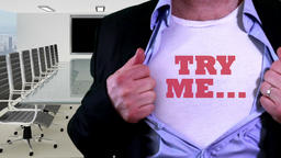 Try me concept shirt Footage