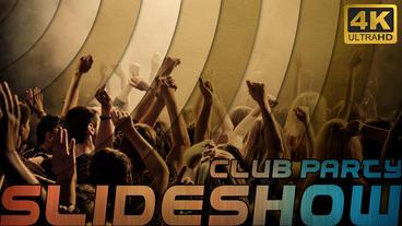 4k club party slideshow Apple Motion-Vorlage