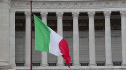Waving flag of Italy Footage