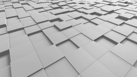Tiles Cubes Loop 4k Background - White Clean - View 03 Animation