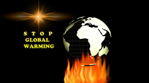 STOP GLOBAL WARMING CG動画素材