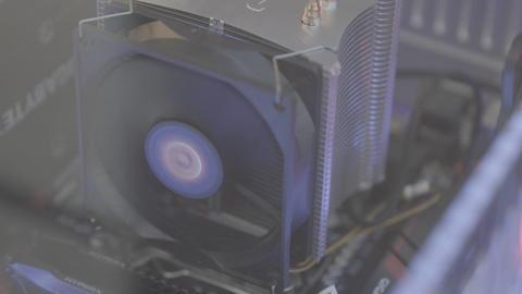 Computer CPU Fan Footage