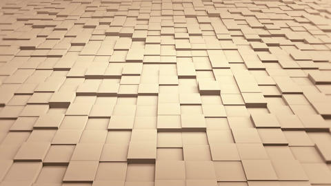 Tiles Cubes Loop 4k Background - Clean Warm Color - View 02 Animation