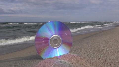 CD on the beach Footage