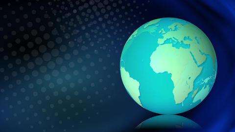 Earth rotation dot global Animación