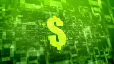 Dollar sign background.Business technology concept Stock Video Footage