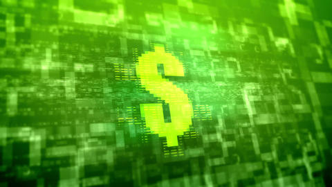 Dollar sign background.Business technology concept Animation