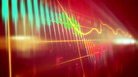 Animation of down trend of stock market Animation