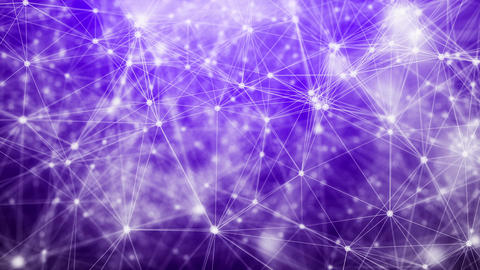 Violet Plexus Background. Abstract Network concept Animation