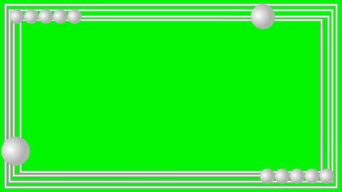 Green Mat Set Of Animated Frames 3d Hearts Binary Code Animation 1