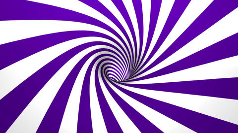 hypnotic spiral 4K 50fps violet and white Animation