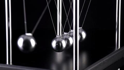 Newton's Cradle Slow Motion Footage