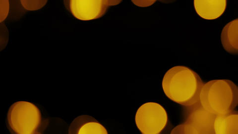 Gold Organic Bokeh Overlay 2 Animation