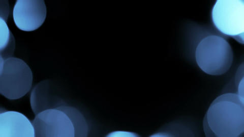 Blue Organic Bokeh Overlay 4 Animation