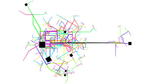 Transport System of a City Growing and Expanding Footage
