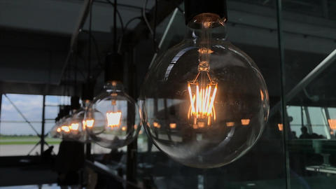 Electric light bulbs flickering Footage