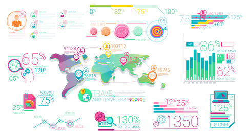Corporate Infographic Elements With Alpha Channel 1