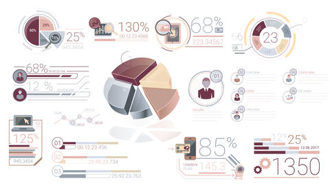 Corporate Infographic Elements With Alpha Channel 2