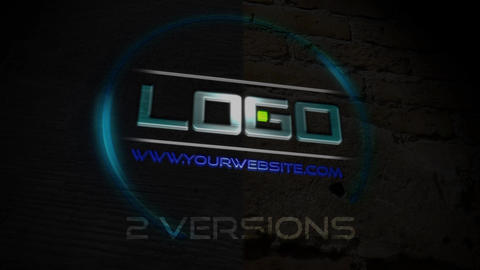 Flickering 3D Logo Reveal template After Effects Template