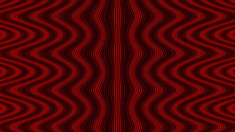 Wave flow digital pattern, rotating optical illusion, red color animated video b Animation