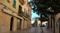 Spain Mallorca Island Alcudia 018 old town cityscape in an alley Footage
