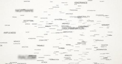 Negative Words Background 01-white Animation