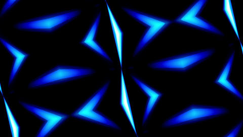 Rotating Kaleidoscope Illumination Blue Lines Abstract Background Animation