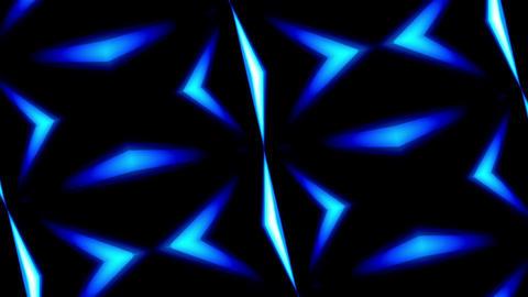 Rotating Kaleidoscope Illumination Blue Lines Abstract Background Animation