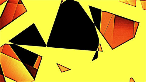 Changing Geometrical Graphics Shapes Colored Figures Flat Motion Animation CG動画素材