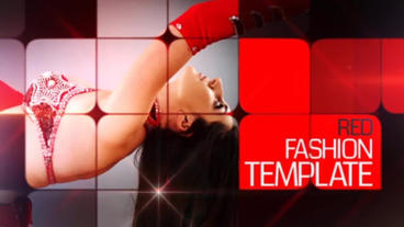 Red Fashion Template After Effects Template