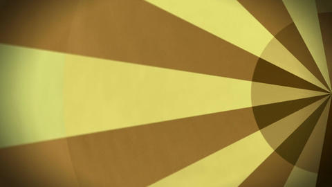 Rotating Yellow And Brown Stripes Background Animation