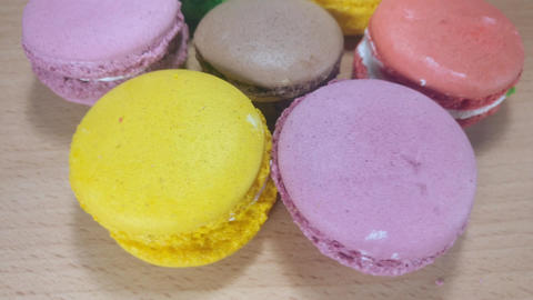 Tasty Colorful Macaroons Footage