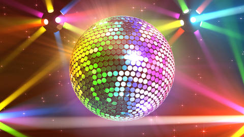Mirror Ball 2b H Cc 1 HD Stock Video Footage