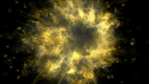 explosion atom nuclear in darkness,smoke and fire Stock Video Footage