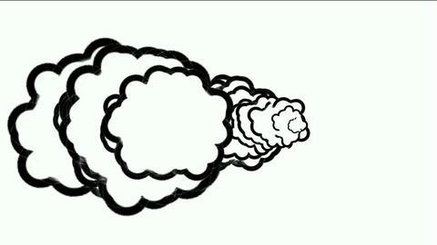 Cartoon smoke Stock Video Footage