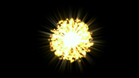 explosion in space Stock Video Footage