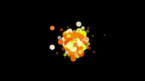 abstract colorf circles loop,bubble & blister array background,dancing dots  Animation