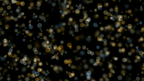 flowing light dots & circle particles Animation