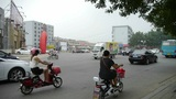 Urban Town Busy Road Traffic,China Chinese People stock footage