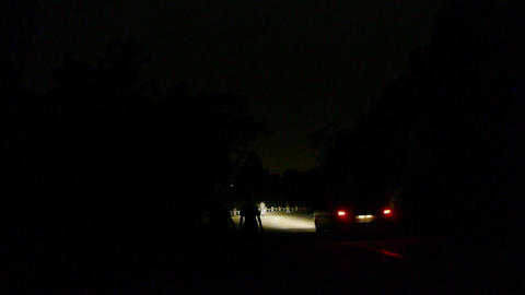 people & Vehicle car traveling on road at night,traffic Stock Video Footage