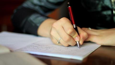 girl doing homework. 8 Stock Video Footage
