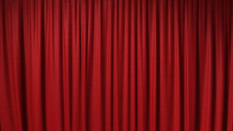 opening red theatrical curtain Stock Video Footage