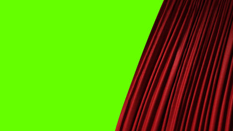 opening red theatrical curtain Animation