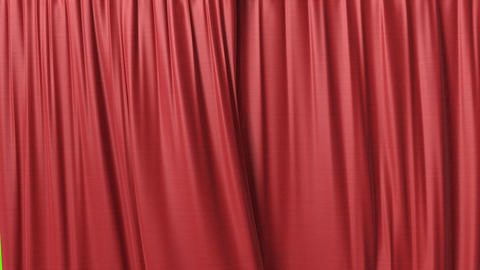 Opening and closing red curtain Stock Video Footage